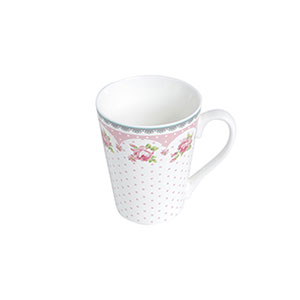 Caneca de Porcelana 340mL New Bone Rose Slim - Lyor