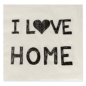 Guardanapo de Papel I Love Home - Sottile