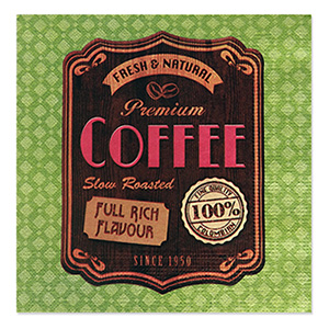 Guardanapo de Papel Vintage Coffee - Sottile