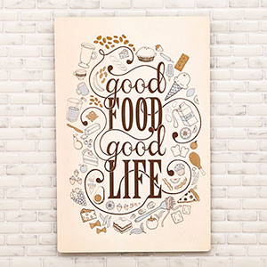 Placa Decorativa Mdf Good Food 29,5x19,5cm - Cia Laser